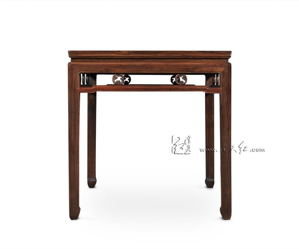 Bureau long rectangle en bois de rose table 6 sièges bureau salon salle à manger meubles 1 3 m conseil chine nouveau classique de mode solide bois dans