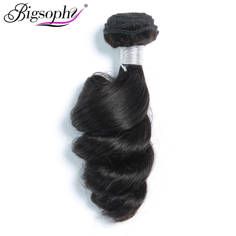 Bigsophy Malaysian Hair Weave Bundles Loose Wave Human Hair 4 Bundles Deal Remy Hair Extensions Original Hair Weft Natural Color
