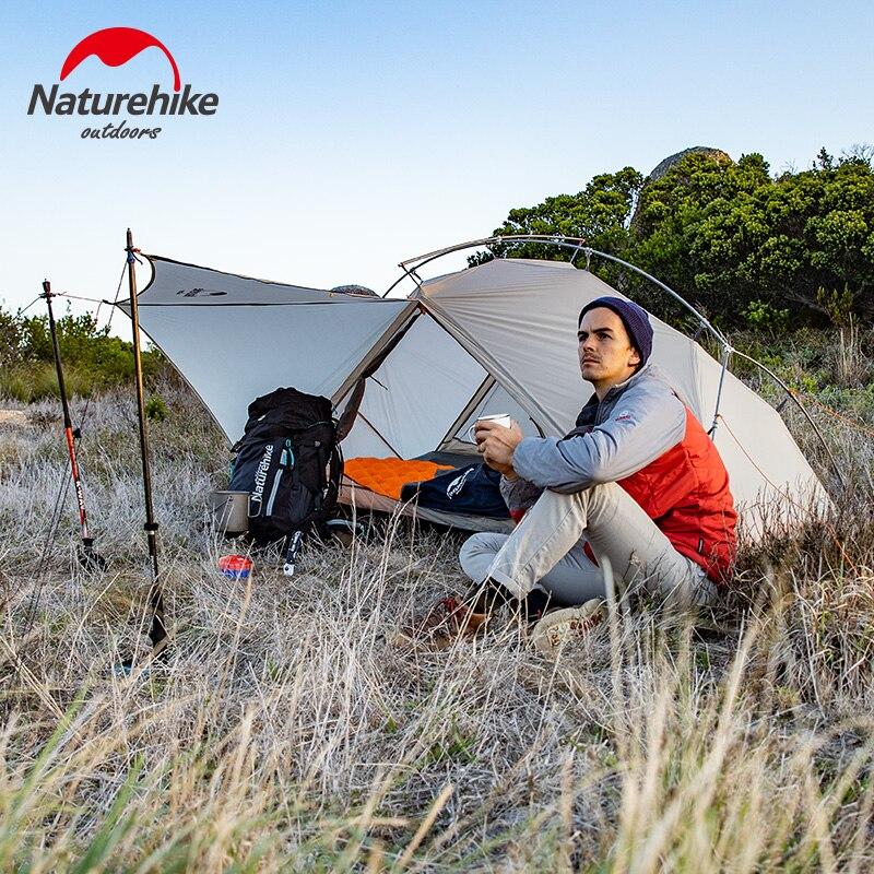 Tente simple extérieure ultralégère naturetrekking 15D en Nylon Camping Double tente à couche unique en aluminium Portable imperméable à l'eau en forme de Y