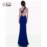 Comeondear Womens Maxi Dresses Sex Elegant Party Spaghetti Strap Backless Sexy Dress VK1013 Vestido Newly Bandage Long Dress