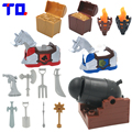 TQ Castle Knight Pirate Weapon Arms Treasures Artillery Big Particle Building Blocks Set Brick Toys Compatible with Duplo