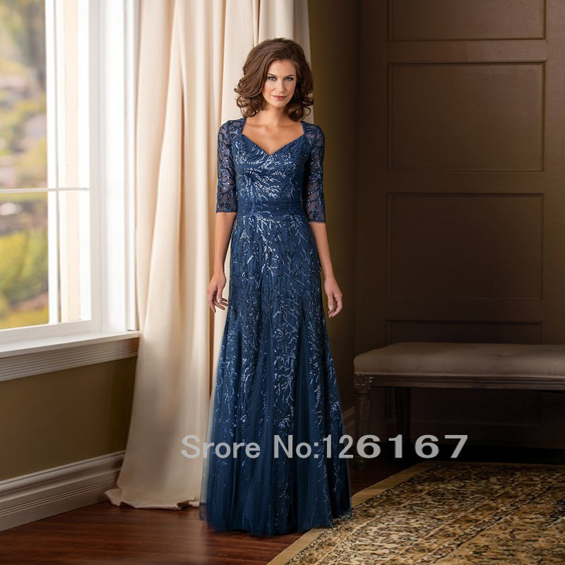 Half-Sleeves-Sequins-Mother-Of-The-Bride-Dresses-2016-New-arrival-Long-Mother-dresses-woman-Eveningasdddddddddd