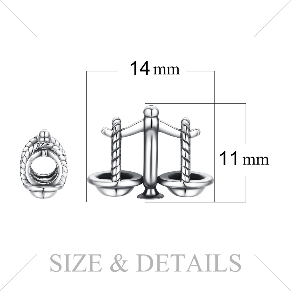 JewelryPalace Luck Libra 925 Sterling Silver Beads Charms Silver 925 Original For Bracelet Silver 925 original Jewelry Making in Charms from Jewelry Accessories
