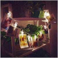 ELBA Asequibles Casa Colgando Decoraciones de Iluminación LED de Luz Blanca Beads Clips Picadura Para Fotos y Tarjetas de Nota