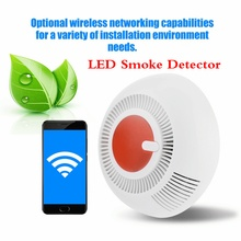 Smart LED Smoke Detector Home Security Equipment LED Display Alarm Smoke Sensor Wireless Networking Suitable For Fire Alarms