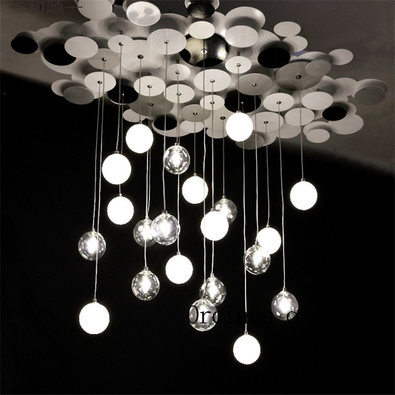 Nordic modern glass bulb bubble lamp creative personality simple art ceiling lamp bedroom dining room living room lamp ledream contracted and creative personality sitting room dining room art glass chandelier american cherry branches pendent lamp