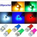 20pcs 12V 24V Colorful T10 5 SMD LED 194 168 192 W5W Car Side Wedge Tail Light Lamp Bulb White Red Blue Green Purple