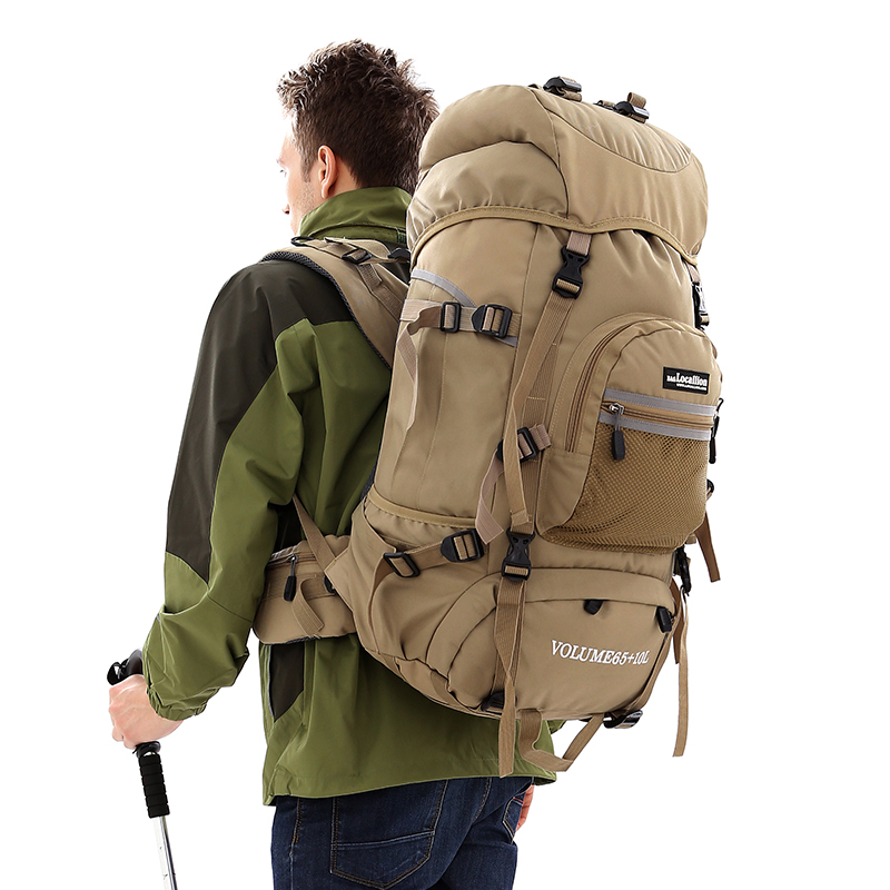 Hot 75L High capacity travel mountaineering bag men backpack Waterproof sports