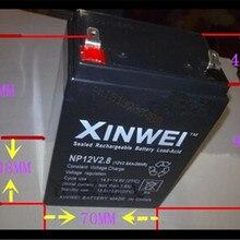 Аккумуляторные батареи 12V 2.8Ah свинцово-кислотный аккумулятор UPS источник бесперебойного питания, аварийное освещение