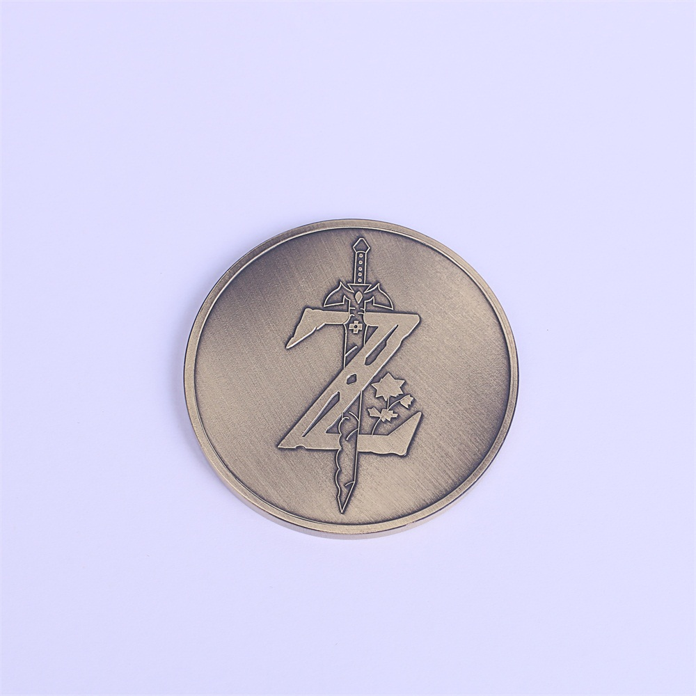 Hot Game The Legend of Zelda Cosplay Breath of the Wild Special Collectible Coin Handmade New Halloween Party (2)