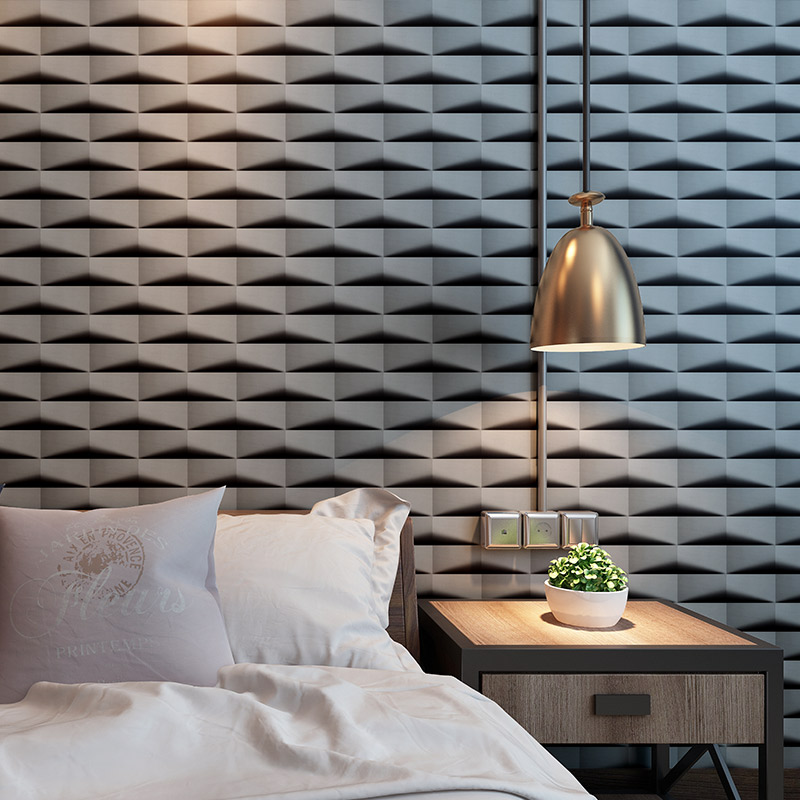 vinilos pared Modern Triangle Brick 3D Wall papers Home Decor Black Grey PVC Wall Paper Roll for Walls papel mural rejilla pared home improvement watercolor oil painting abstract wall paper roll waterproof contact paper papel mural vinilo pared behang