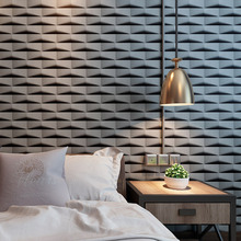 vinilos pared Modern Triangle Brick 3D Wall papers Home Decor Black Grey PVC Wall Paper Roll for Walls papel mural rejilla pared наклейки ftf 2015 vinilos 3d 33
