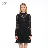PK Slim Party Summer Dresses Women Long Sleeve Sundress Vestido De Festa Hollow Out Sexy Womens