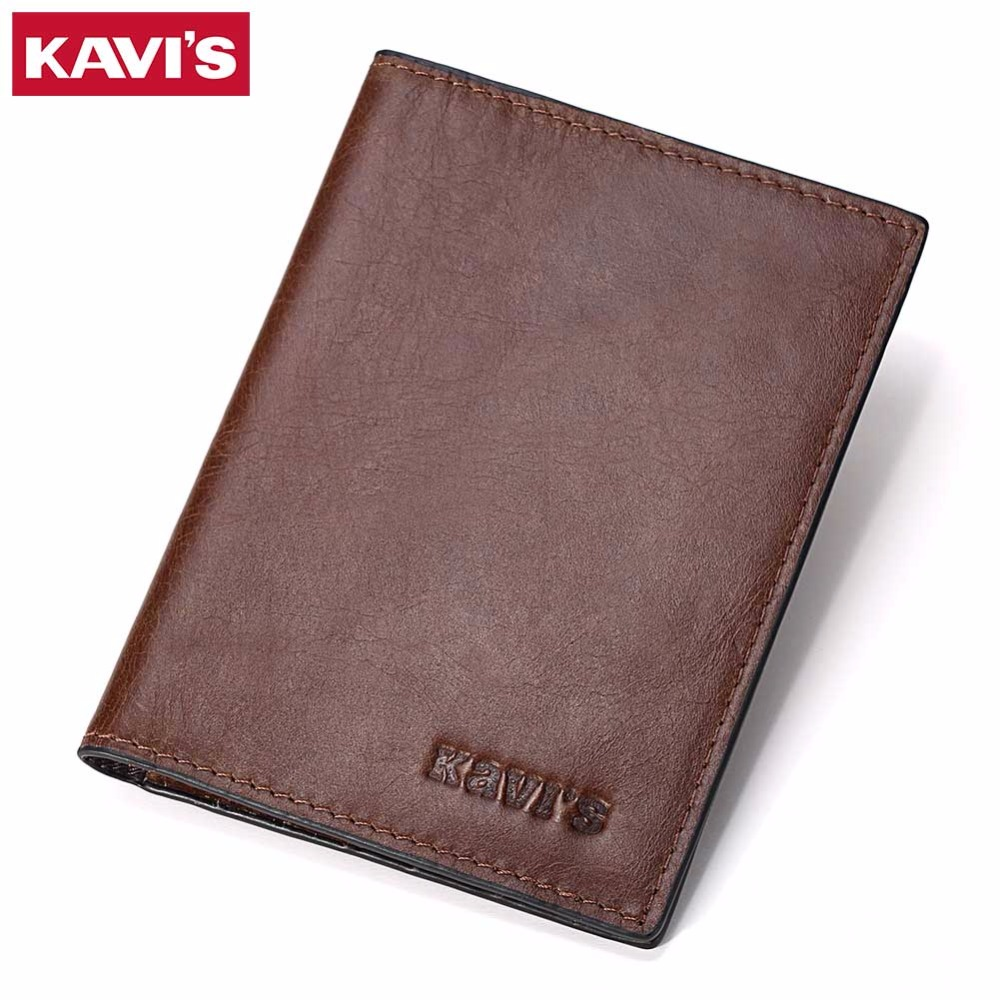 KAVIS Genuine Leather Passport Cover ID Business Card Holder Travel Credit Wallet for Men Purse Case Rfid Driving License Male 3d skull floral pu leather passport cover wallet travel function credit card package id holder storage money organizer clutch
