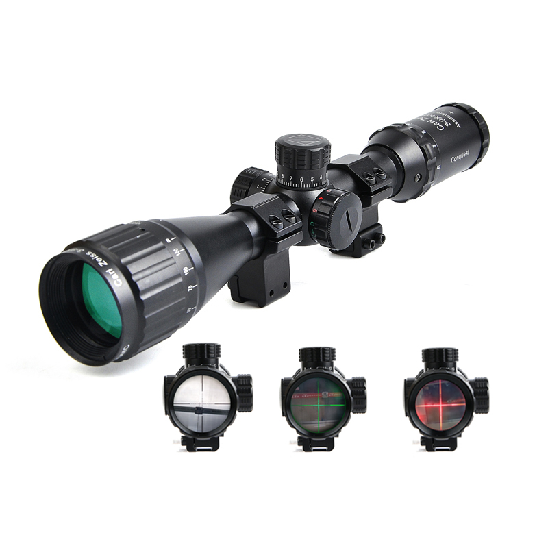 Carl Zeiss White Letter 3-9X40 Optics Riflescope Hunting Scopes Red and Green Reticle Sight Scope Rifle Airsoft Rifles ship from us new 3 9x40 illuminated rifles scope with red laser