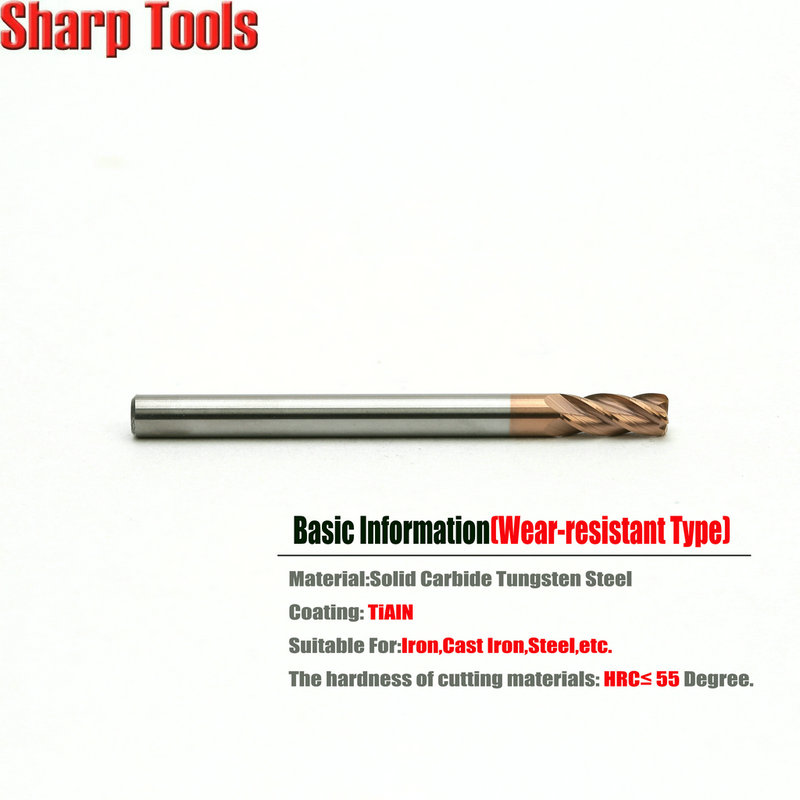 Carbide Corner Radius End Mill 2 Flute 1 in Length of Cut 30/° Helix 1//2 in Dia 1//2 in Shank Morse Cutting Tools 95435