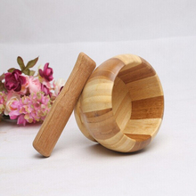 De Bambú De alta Calidad Prensa de Ajo Trituradora Trituradora de Hierbas Especias Grinder Herramienta de la Cocina Chopper Ajo Trituradoras
