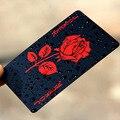 Rosa jogando cartões de poker jogo baralho folha de ouro poker conjunto plástico cartão mágico cartões à prova dmagic água magia