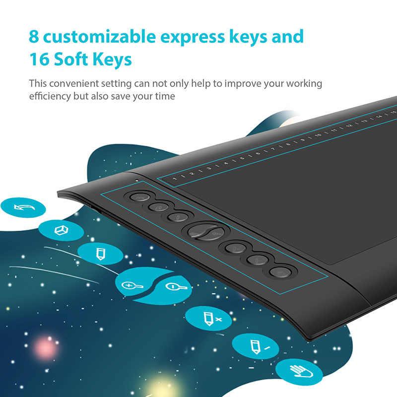 HUION H610 PRO V2 Neuesten Grafik Tablet Professionelle Digitale Zeichnung Stift Tablet mit Batterie-Freies Stift Tilt Funktion 8192 ebenen