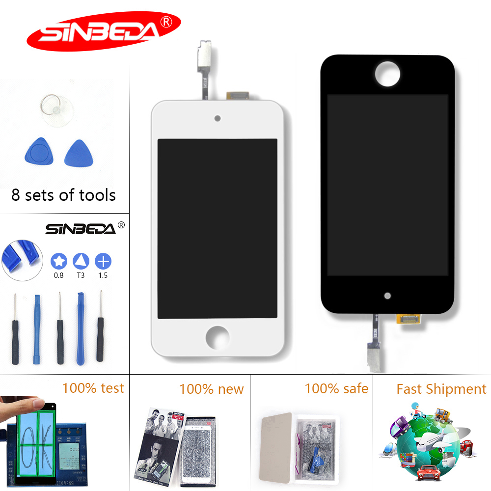 Sinbeda LCD Screen For iPod Touch4 LCD Display Replacemen with Touch Screen Digitizer Assembly+Free Tools+ Adhesive Ecran TactilSinbeda LCD Screen For iPod Touch4 LCD Display Replacemen with Touch Screen Digitizer Assembly+Free Tools+ Adhesive Ecran Tactil