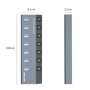 Image 5 - Wavlink USB רכזת 3.0 במהירות גבוהה 4/7 יציאות מיקרו USB 3.0 Hub ספליטר על/כיבוי עם כוח מתאם עבור MacBook Pro מחשב נייד מחשב