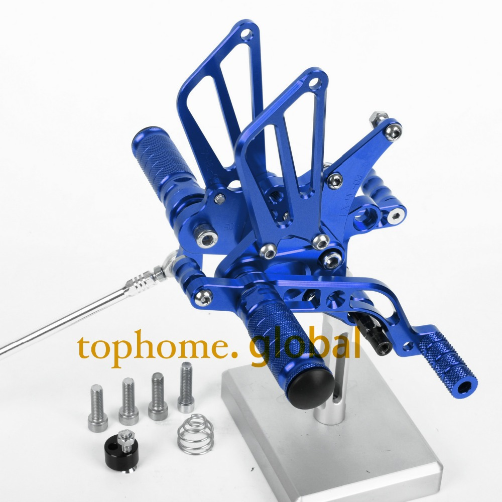 CNC Motorcycle Parts Rearsets Foot Pegs Rear Set For BENELLI BN600 2013 Blue Color
