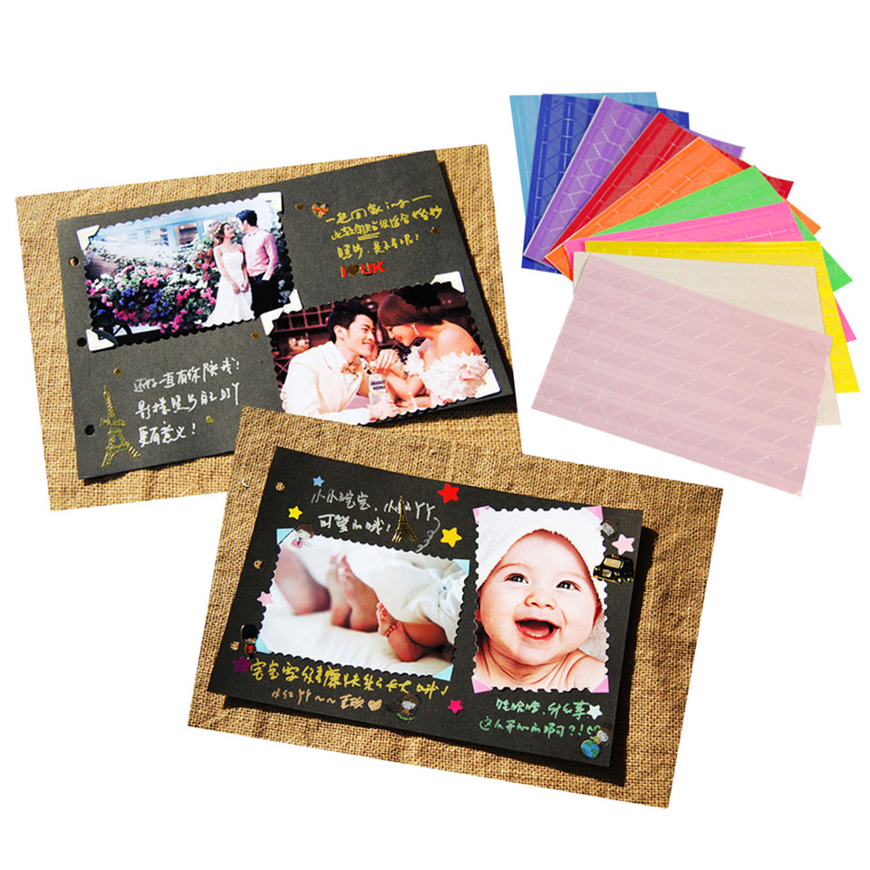 10 Sheets Self Adhesive Mounting Photo Paper /& Corner Stickers For Diy Scrapbook
