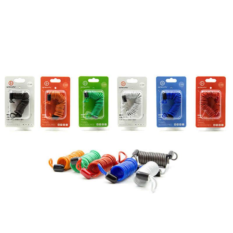 1.5M Gembok Kabel Alarm Kunci Keamanan Spring Pengingat Kabel Skuter Sepeda Motor Cakram Rem, perlindungan Pencurian Tali Kawat Baja