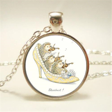 8 Style 2017 New Arrival Hedgehog In The Fog Pendant Necklace Long Chian Statement Handmade Fashion Necklace For Women HZ1
