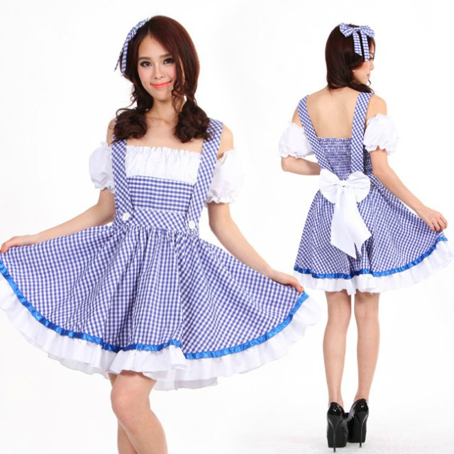 Ladies Dorothy Fancy Dresses Girls Blue Plaid Wizard Of Oz Cosplay Fantasias Outfit M Women Halloween Costume Uniforms Brand New on Aliexpress.com | Alibaba ...  sc 1 st  AliExpress.com & Ladies Dorothy Fancy Dresses Girls Blue Plaid Wizard Of Oz Cosplay ...