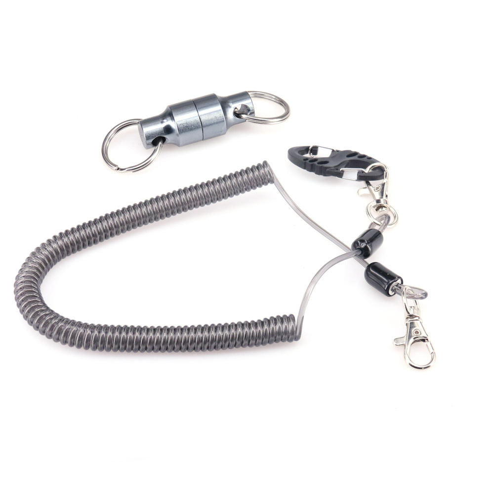 DEUKIO Fishing Rod Retention Rope Magnet Buckle Stainless Wire Outdoor Sports Mountaineering Lure Carabiner Fishing Tackle Pesca