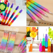 4pcs /Lot Building Block Pencils Creative Stationery Pencil Kid Children School Office Supplies Prize Gift Material Escolar(China)