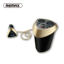 REMAX 80w 3.4A 3 USB Car Charger Fast charging with Voltage Display car cigarette lighter Socket Splitter DC 12-24 for phone GPS