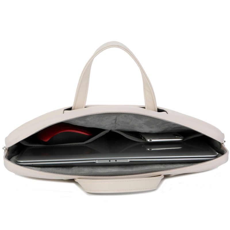 """كمبيوتر محمول مقبض حقيبة النساء الرجال بو الجلود الكرتون 13 """"14"""" 15 """"15.6"""" الدفتري PC حمل جراب للماك بوك ديل لينوفو"""