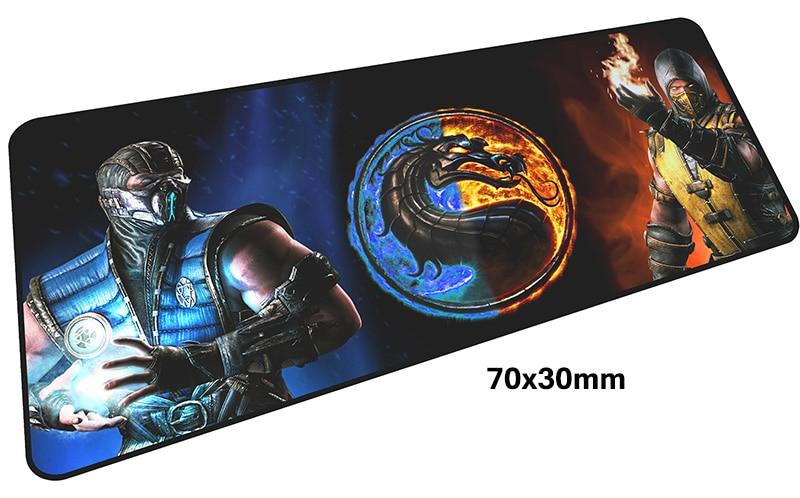 mortal kombat mousepad gamer 700x300X3MM gaming mouse pad large Customized notebook pc accessories laptop padmouse ergonomic mat