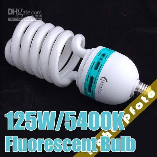 125W 5500K 220V Photo Fluorescent Daylight Bulb Lamp studio light continuous lighting light bulb photography accessory PSLB3