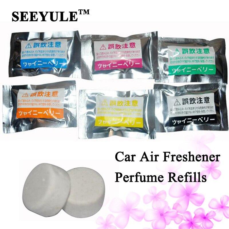 2 bags lot seeyule car perfumes refills original solid air freshener refill flavoring car. Black Bedroom Furniture Sets. Home Design Ideas
