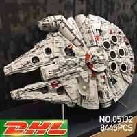 Лепин 05132 Звездный Разрушитель Сокол Тысячелетия LegoINGs 75192 кирпичи модель здания Конструкторы Развивающие игрушки Рождественский подарок