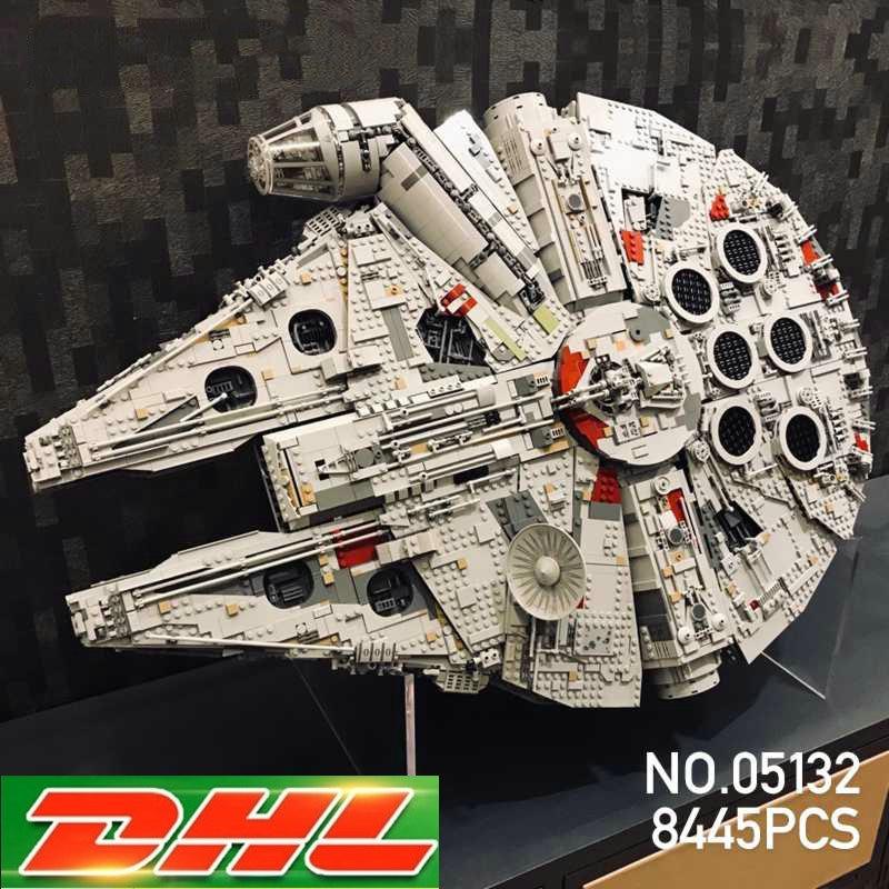 Lepin 05132 Star Destroyer Millennium Falcon LegoINGs 75192 Bricks Model Building Blocks Educational Toys Christmas gift