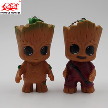 2PCS NEW Guardians Galaxy Mini Baby Grooting Tree Model Action And Toy Figures Cartoon Pendant Dolls Toy Fashionable Gifts