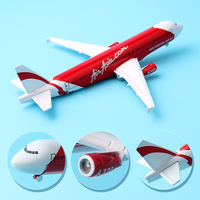 16cm Alloy Air Asia Airlines Airbus 320 A320 Plane Model Aircraft Airplane Model w Stand Craft For Kid Children Birthday Gift