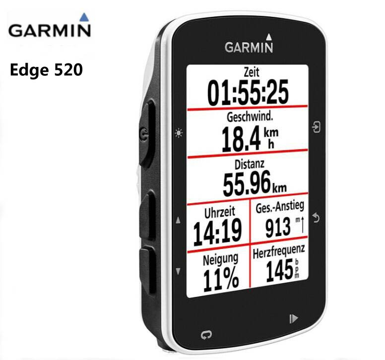Garmin Edge 520 Cycling Bicycle Computer GPS Enabled Mount Road/MTB Bike handlebar Garmin 200 510 810 speed Cadence Sensor garmin edge 820 bicycle computer bike cycling gps enabled waterproof wireless speedometer different to 500 800 510 520 810 1000