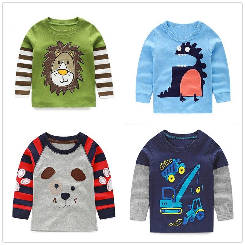 VIDMID boys t-shirt long sleeves children's t-shirts autumn cartoon kids shirts for boys clothes cotton baby clothes boy t-shirt