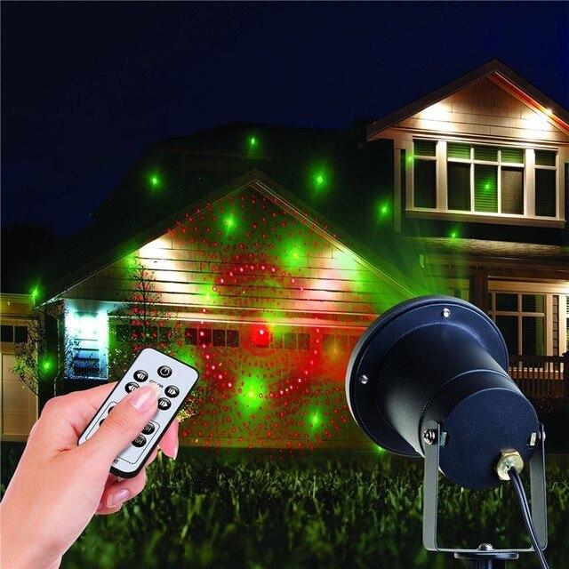 weihnachtsbeleuchtung au en projektor laser sterne zeigen licht mit fernbedienung ip65 garten. Black Bedroom Furniture Sets. Home Design Ideas