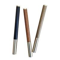 1 stk/partij Unieke Gift Roller 0.5mm Zwarte Inkt Refill Hout Metalen Handgemaakte High-end Business Office Gift pennen voor Collectie