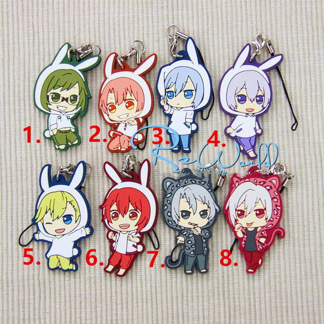 Japan Anime Cartoon Rabbit Animal Idolish7 Keychain Portachiavi Llavero Pendant Gift FromJapan Cute