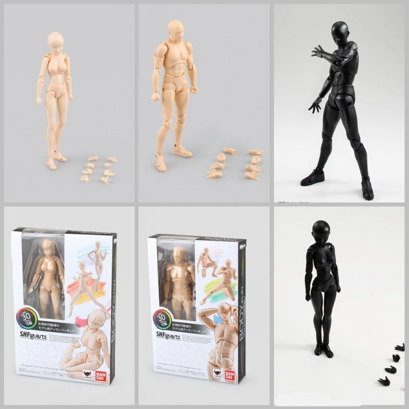 15cm Male Female Movable body joint Action Figure Toy artist Art painting Anime figures model doll Draw Mannequin bjd Art Sketch 2017 anime body kun body chan movable action figure model toys anime mannequin bjd art sketch draw collectible model toy