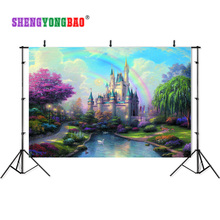 SHENGYONGBAO Castle theme Vinyl  Photography Backdrops Prop Custom Background CA181