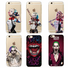 Suicide Squad Harley Quinn Joker Soft Phone Case For iPhone 7 7Plus 6 6S 6Plus 5 5S SAMSUNG
