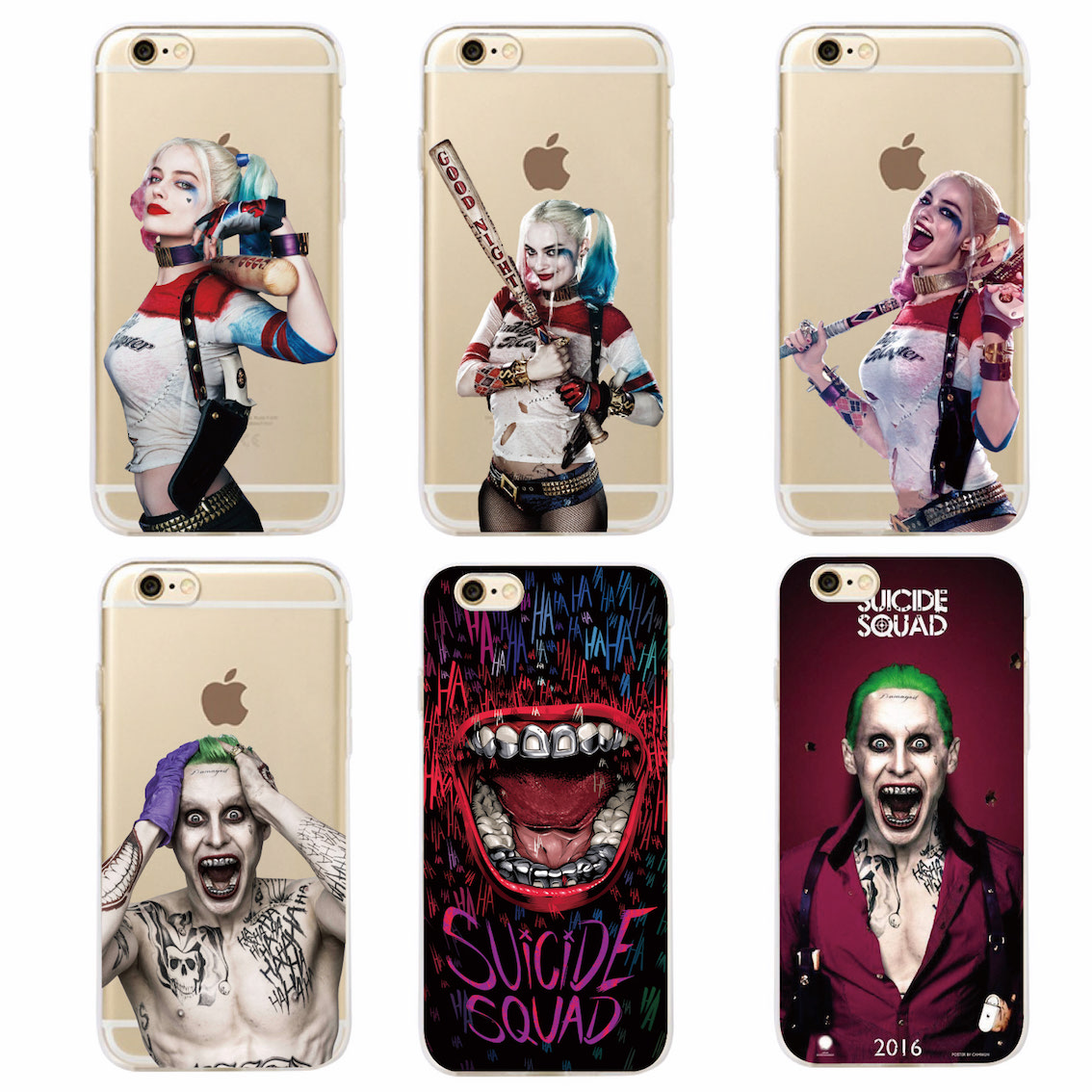 Suicide Squad Harley Quinn Jared Leto Joker Comics Movie Soft Phone Case Coque Fundas For iPhone 7 7Plus 6 6S 6Plus 5 5S SAMSUNG